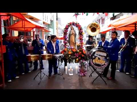 La Guadalupana con la banda Astro