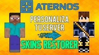 ATERNOS !! Como Descargar Y Usar SKINS RESTORES / Personaliza Tu Server [2016][Full] | Español