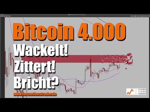 Bitcoin 4.000: Wackelt! Zittert! Bricht?