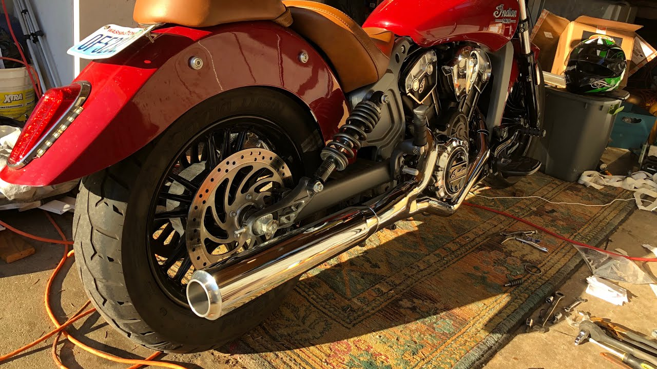 indian scout 2 into 1 exhaust upgrade