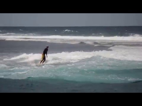 Surfing in Agana Boat Basin