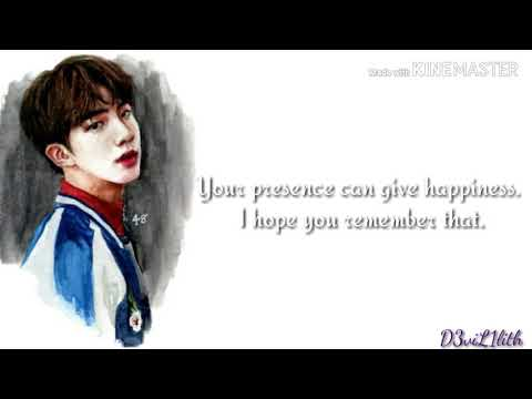 bts jin inspirational quotes wise words