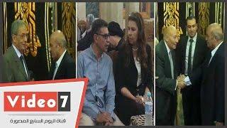 عمرو موسى و محمد فايق و رفعت السعيد و جمال فهمى بعزاء شاهندة مقلد