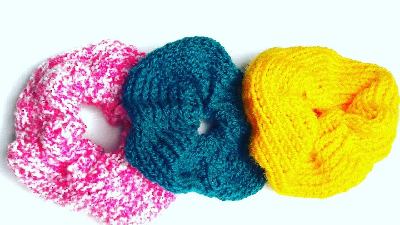 How To Make Knitted Scrunchies - DIY Winter Scrunchies Tutorial