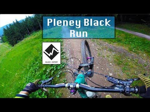 Morzine DH MTB 2017 | PLENEY BLACK RUN FULL RUN | GoPro