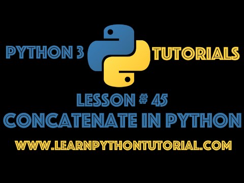 Python Tutorial: How To Concatenate In Python? #45