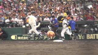 2014.7.19、甲子園オールスターマスコット対決。 第5レースはレオvsトラ...