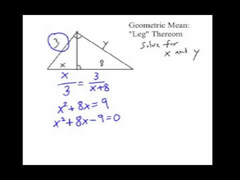 How to Solve Right Triangle Altitude Problems: Geometric Mean #2