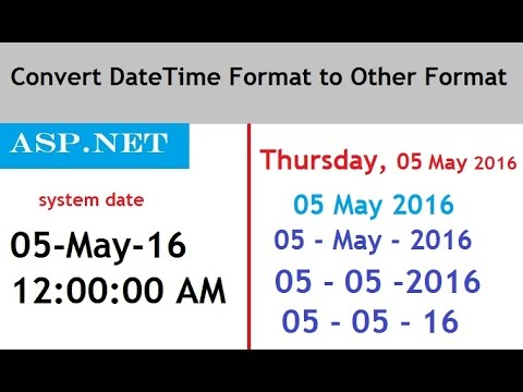 Convert DateTime Format to Other Date Format in ASP NET