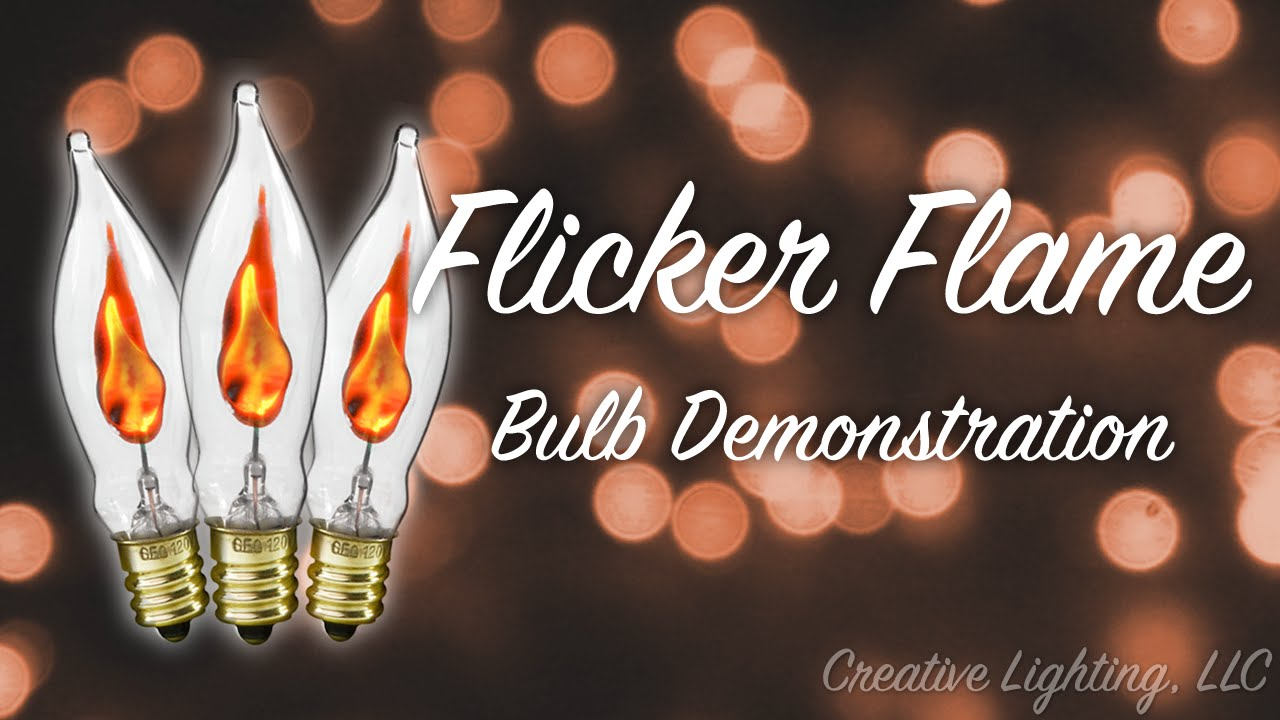 flicker flame christmas light bulb demonstration youtube