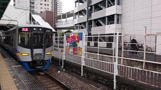 南海高野線 北野田駅12000系(12001編成)回送発車