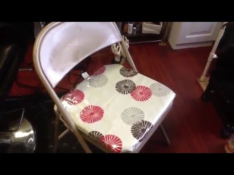 Metal Chair Covers Outdoor Hanging Swing With Stand Diy Folding Chairs Youtube
