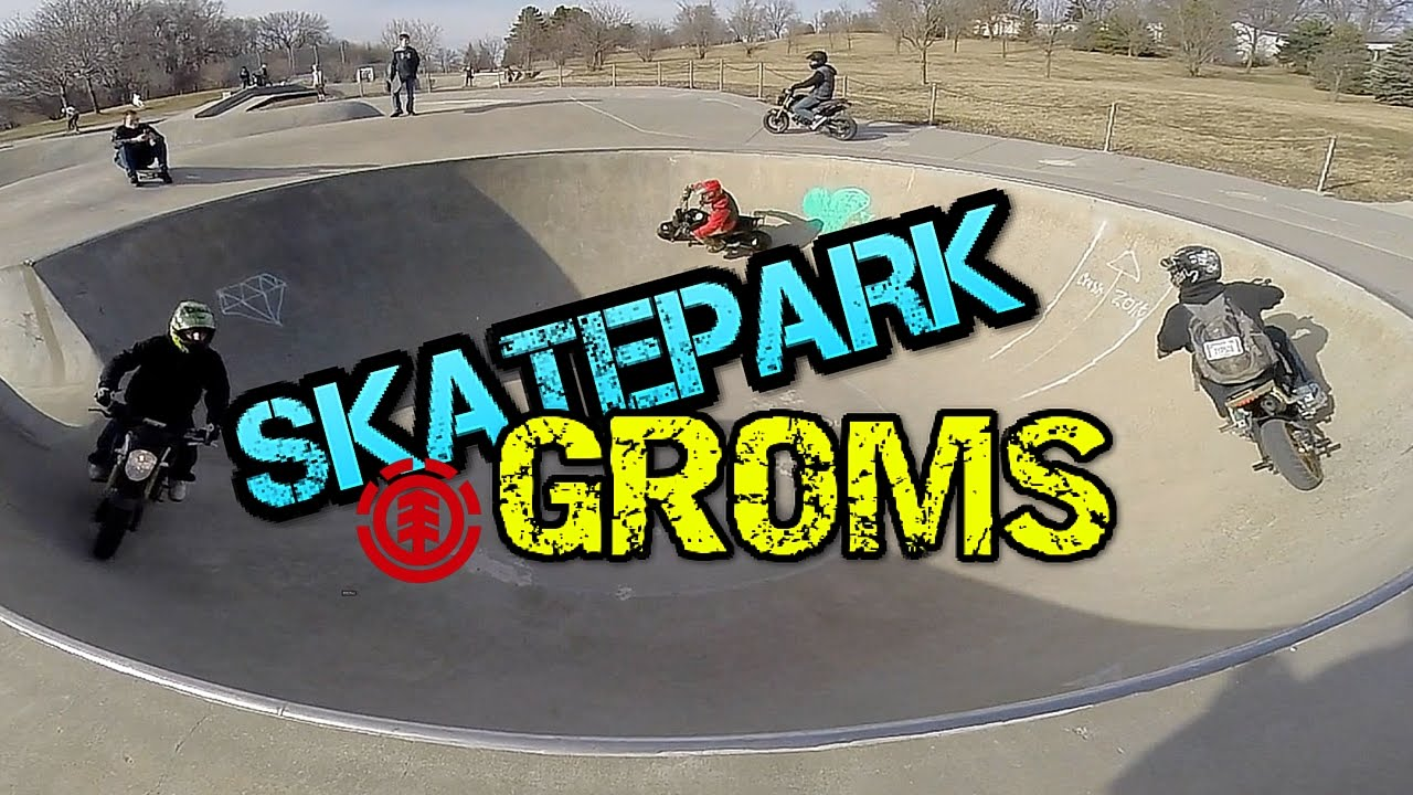 Download Motorcycles Shred at Skatepark | Omaha Grom Squad