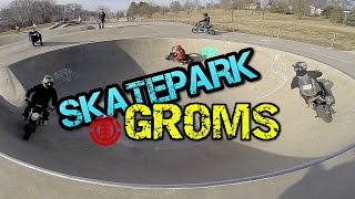 Motorcycles Shred at Skatepark | Omaha Grom Squad