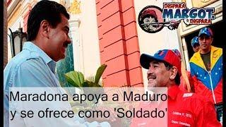 Maradona apoya a Nicolás Maduro y se ofrece como 'Soldado'