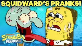 Every Squidward PRANK Ever!  Happy April Fools' Day!