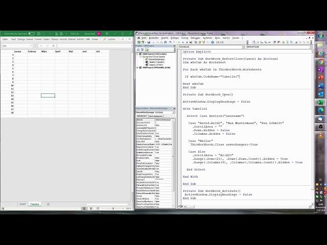 177. Excel-VBA: Eine eigene Benutzerverwaltung stricken (inkl. ausgesägter Tabelle & ScrollArea)