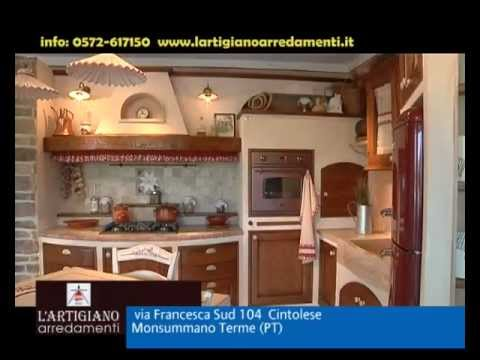Cucine in muratura e country LArtigiano arredamenti - YouTube