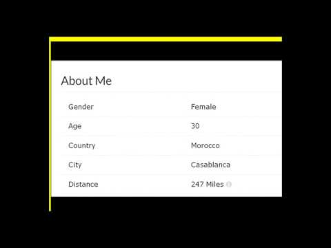 profile on dating website