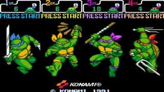 Teenage Mutant Ninja Turtles - Turtles in Time (4 Players ver UAA) - TMNT Turtles in Time Arcade [4 player team] - User video