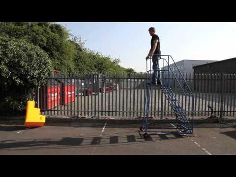 Safety Steps Drop Test Montage from Storage Design Limited