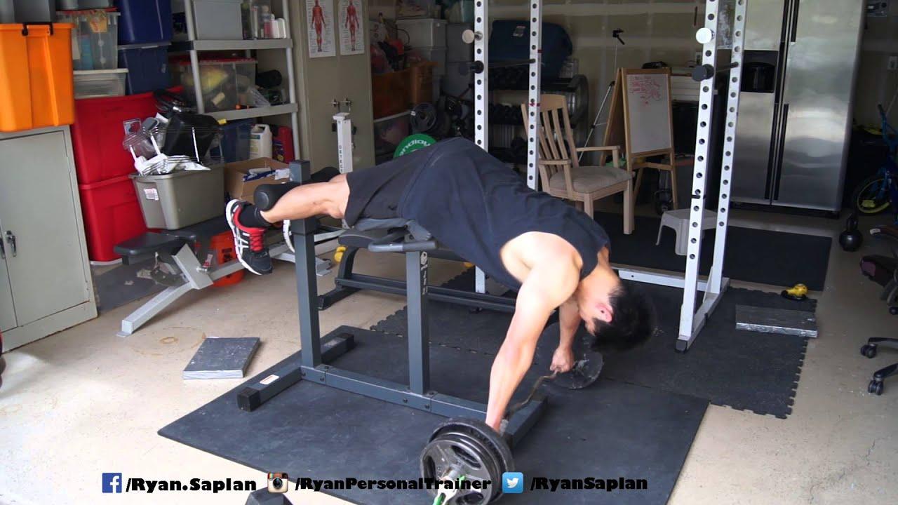Gym Quality Roman Chair Black And White Gingham Cushions Hyperextension A Cheap Ghd 135lbs Youtube