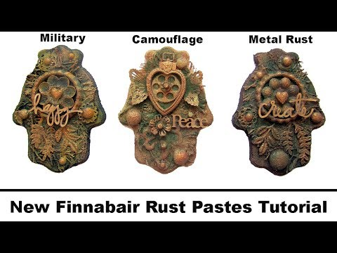 NEW Finnabair Rust Paste Comparison- Military, Camouflage and Metal Rust sets- Mixed Media DIY-