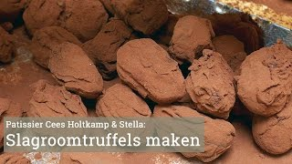 Cees Holtkamp maakt slagroomtruffels