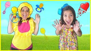 ANNY VIROU BABÁ da MAMÃE !! Kids Pretend To Play Nanny With Mammy