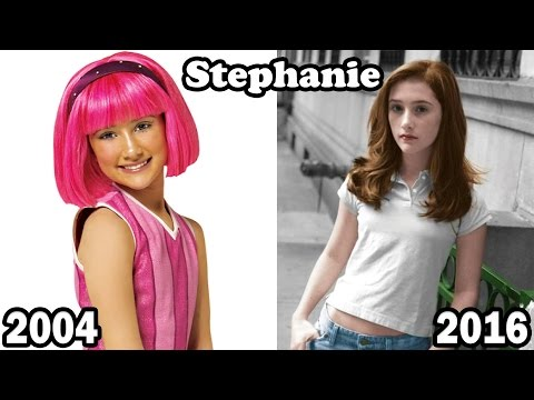 LazyTown THEN and NOW  Lazy Town Antes y Despues 2016