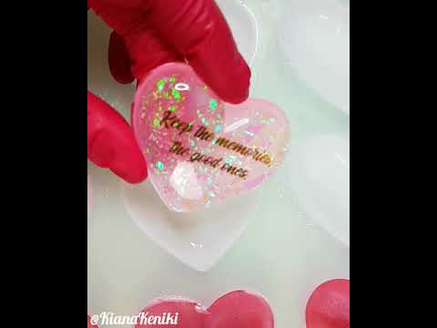 Resin heart demolding #4