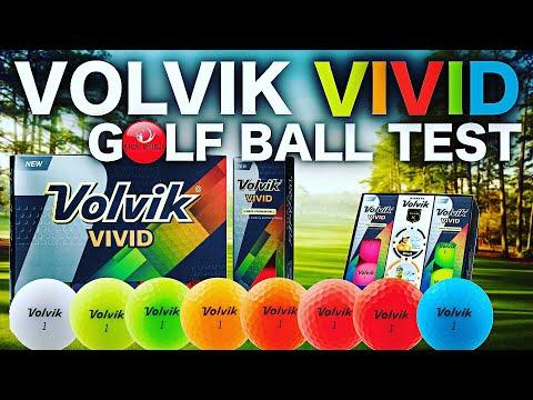 NEW VOLVIK VIVID GOLF BALLS TESTED