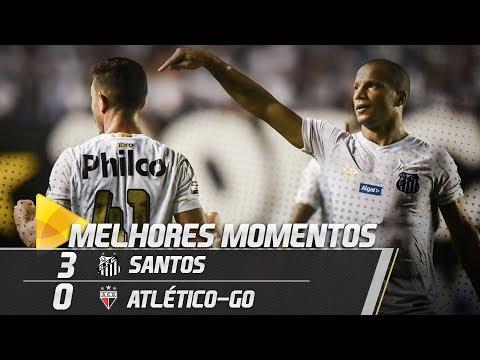 Santos 3 x 0 Atlético-GO | MELHORES MOMENTOS | Copa do Brasil (11/04/19)