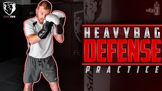 How to Practice Defense on a Heavybag