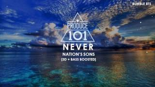 Video [3D+BASS BOOSTED] PRODUCE 101 (NATION'S SONS / 국민의 아들) - NEVER | bumble.bts download MP3, 3GP, MP4, WEBM, AVI, FLV Maret 2018