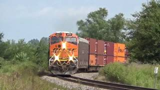 BNSF Barstow Sub trains between Alpha, IL and Linroth siding September 15, 2019