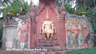 Wat Phnom in the heartbeat of Phnom Penh city, Cambodia