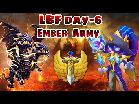 Lost Battlefield | Day-6 | Cosmo In Team | Ember Army | Demo In Team -684 Million | Castle Clash