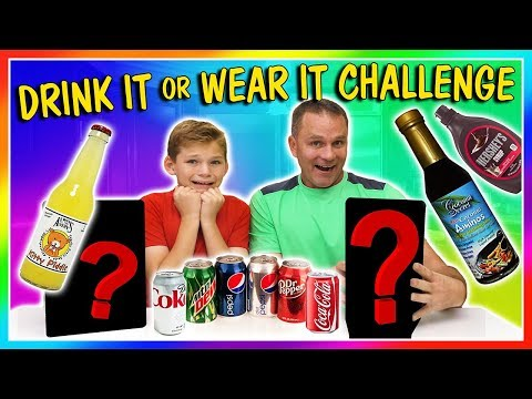 DRINK IT OR WEAR IT CHALLENGE😆| We Are The Davises