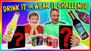 Tyler and Shawn try the drink it or wear it challenge. This was sup...