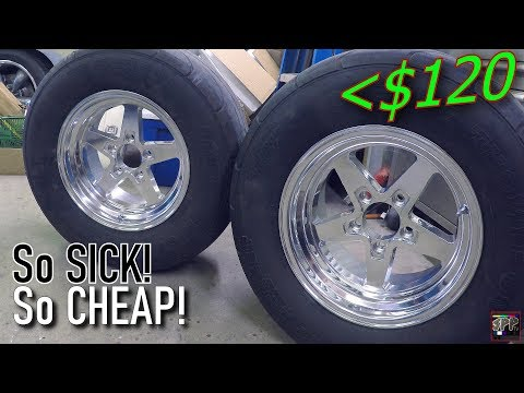 Best Budget Drag Wheels In The World? Turbo LS Blue Ghost Gets New Shoes | Jegs/Vision Sport Star II