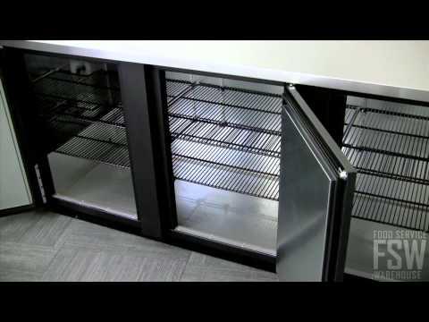 True Solid Door Back Bar Cooler Video (TBB-4)