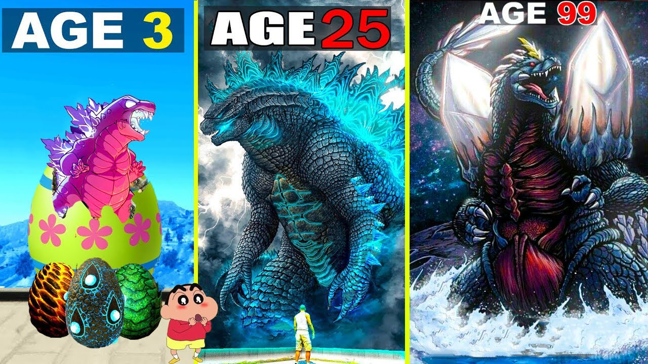 Shinchan Surviving 99 YEARS As GODZILLA In GTA 5 ...