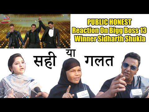 Bigg Boss 13 Winner Sidharth | PUBLIC REACTION | Deserving Or Not ?