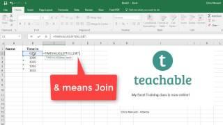 Bir kolon olmadan Chris Menard tarafından Excel saati girin