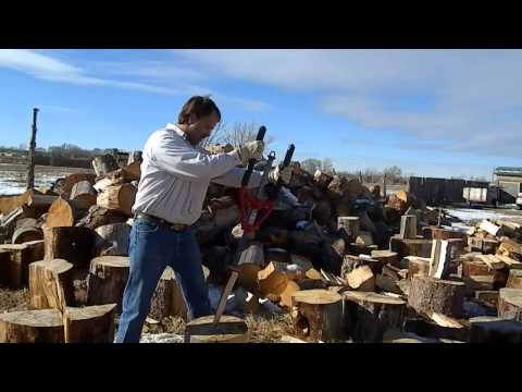 Splitz All easy Wood Splitter split firewood with Innovative sledge hammer - by Good N Useful