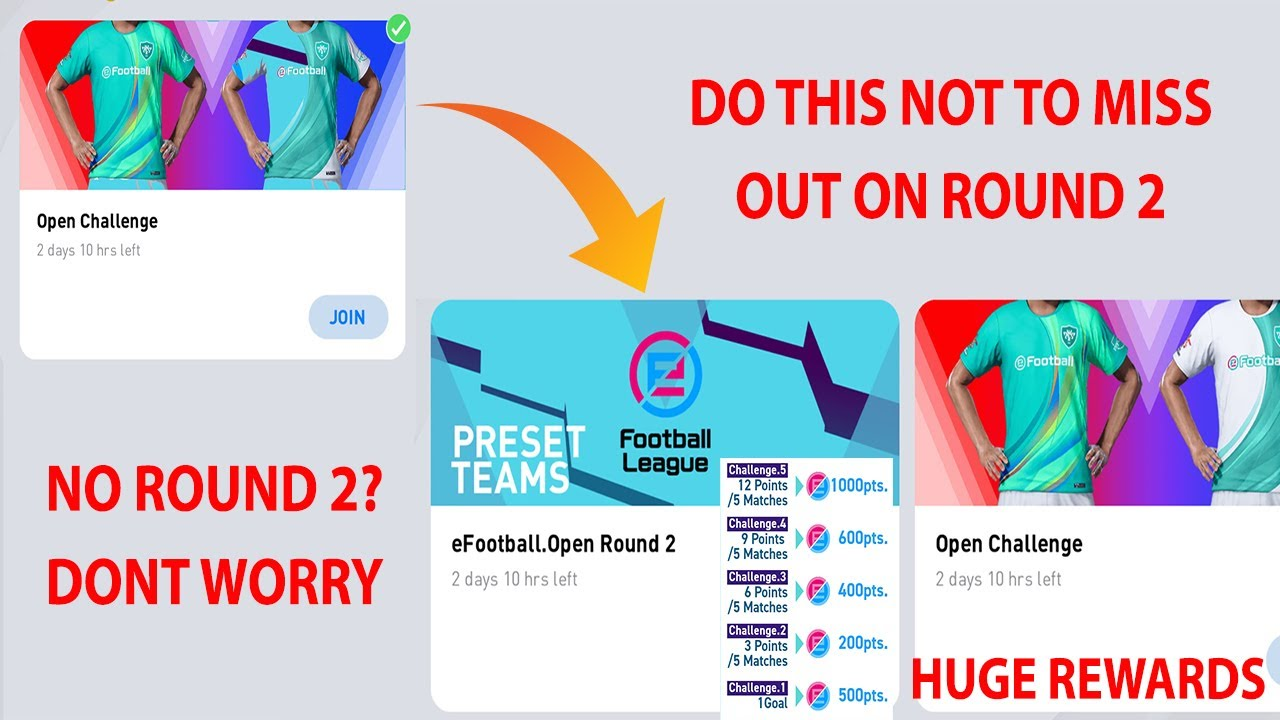 HOW TO GET ROUND 2 OF EFOOTBALL POINT MATCHDAY PROGRAM   PES 2021 MOBILE