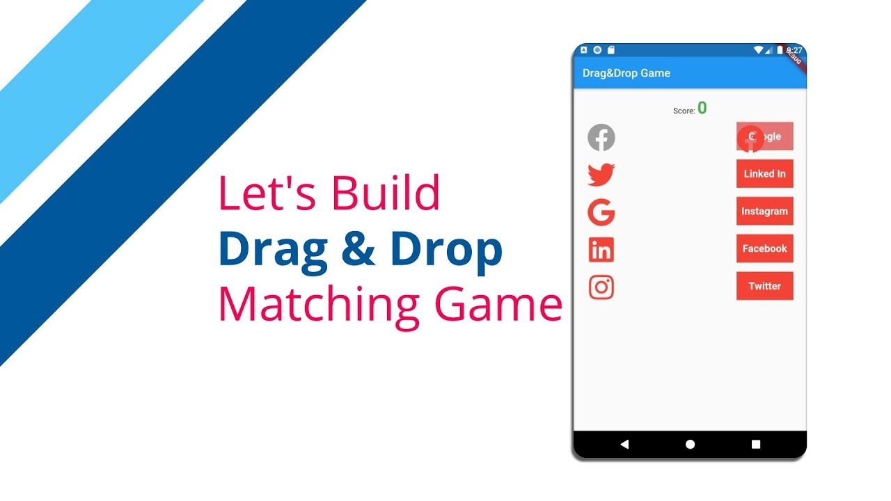 Flutter Tutorial - Drag & Drop Matching Game