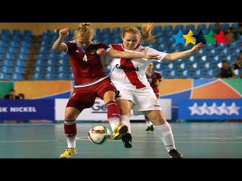 Semi Final Women RUSSIA vs CANADA -5th World University Futsal Championship 2016 - Goiânia