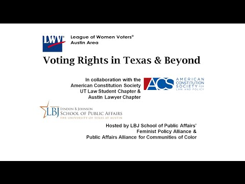 League of Women Voters Austin Kickoff 2016 - Part 2